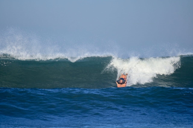 Just before a wipe out